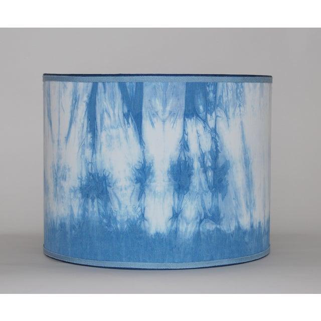 Hand Dyed Shibori Lampshade - Image 2 of 4