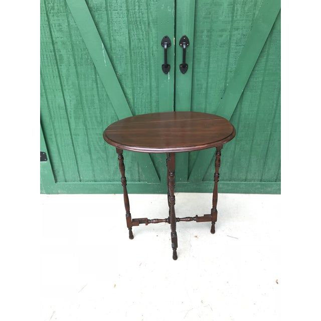 Antique hand made table. Very unusual table. Tilt top table. Gate leg table, hand crafted. Please examine all the pictures...