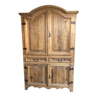 Rustic Southwest Style Pine Wall Cabinet For Sale