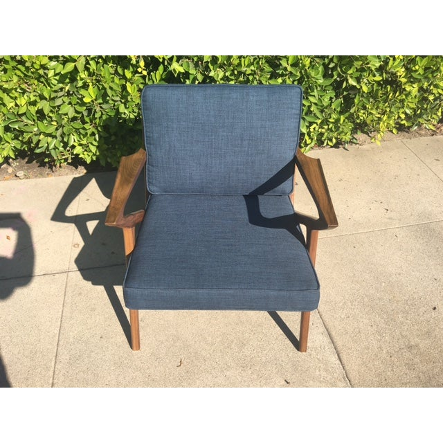 Modern Walnut Z-Lounge Chair For Sale - Image 5 of 6