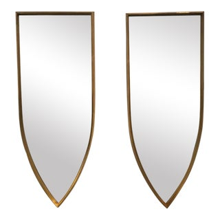 Hollywood Regency Geometric Mirrors - a Pair
