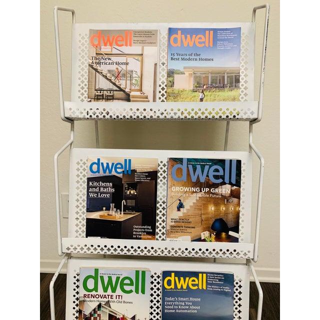 1950s Folding Iron Magazine Book Stand Display Rack Shelf For Sale - Image 11 of 13