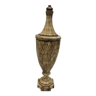 Vintage Indian Camel Bone Urn