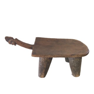 "Superb Old Lobi Stool African Burkina Faso 9"" H by 18.25"" W For Sale"
