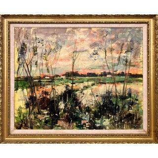 Berto Taubert Original Oil Painting, Framed For Sale