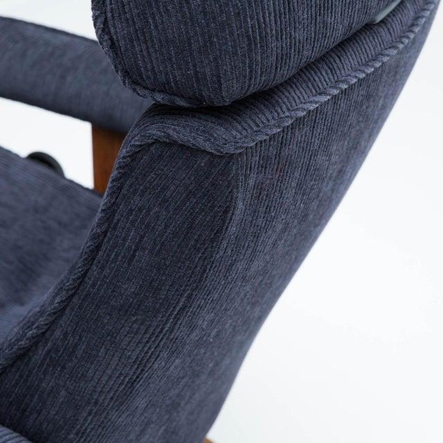 Textile Vintage Teak Ekornes Chair and Ottoman For Sale - Image 7 of 11