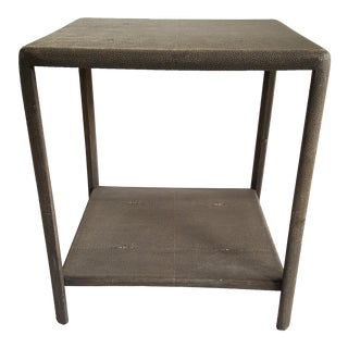 Gabby Daniel Faux Shagreen Side Table