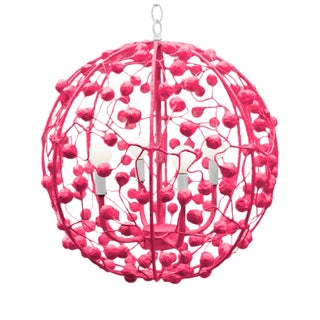 "Stray Dog ""Celeste"" 20"" Sphere Pendant Light For Sale"