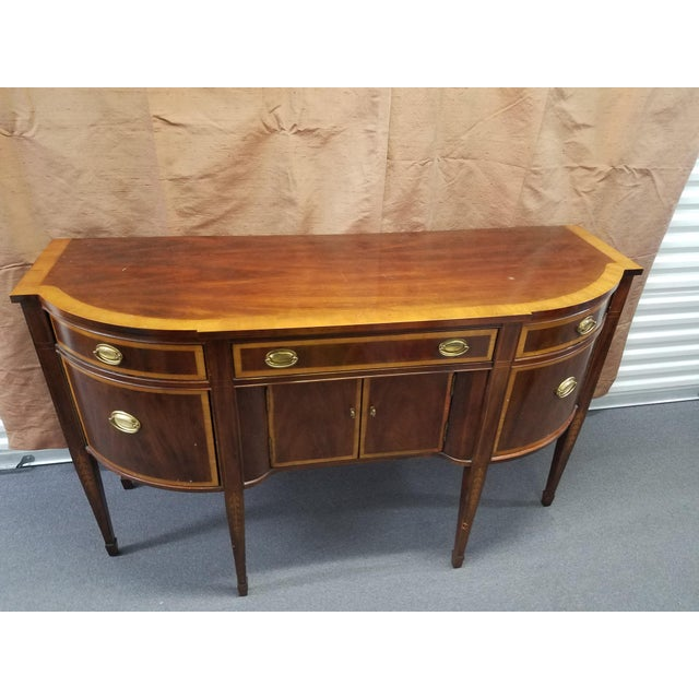 Traditional 1980s Traditional Hepplewhite Mahogany Sideboard For Sale - Image 3 of 4
