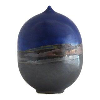 Minimalistic Blue Moon Pot Ceramic Vase - Medium