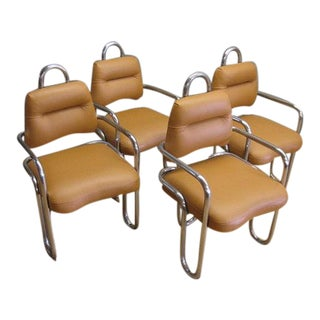 1960s Vintage Kwok Hoi Chan Dining Chairs by Steiner, France - Set of 4 For Sale