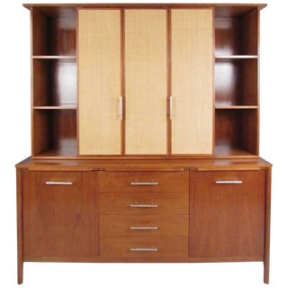 Impressive Two-Piece Sideboard With Hutch by John Stuart For Sale