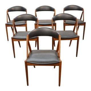 Set of 6 Danish Kai Kristiansen Teak Model 31 Dining Chairs