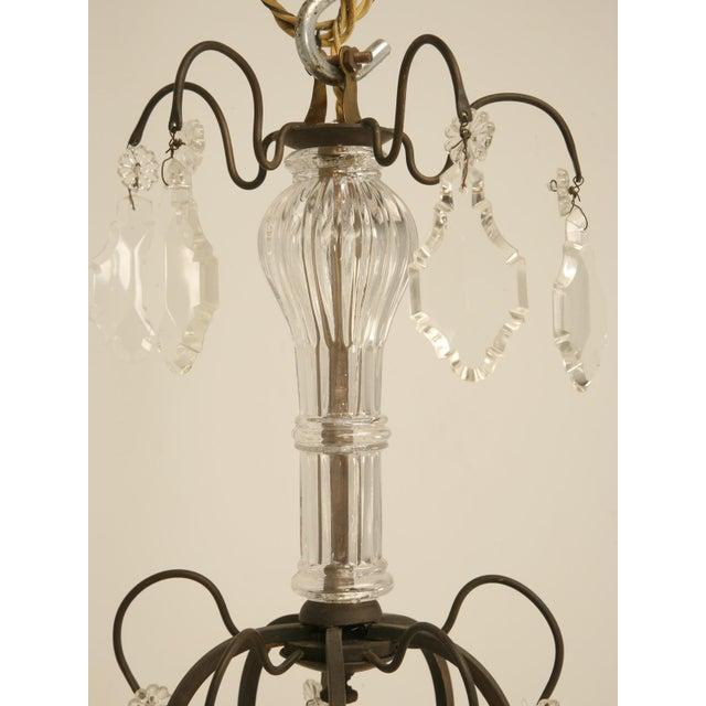 French Vintage Five-Light Bronze Chandelier For Sale - Image 10 of 10