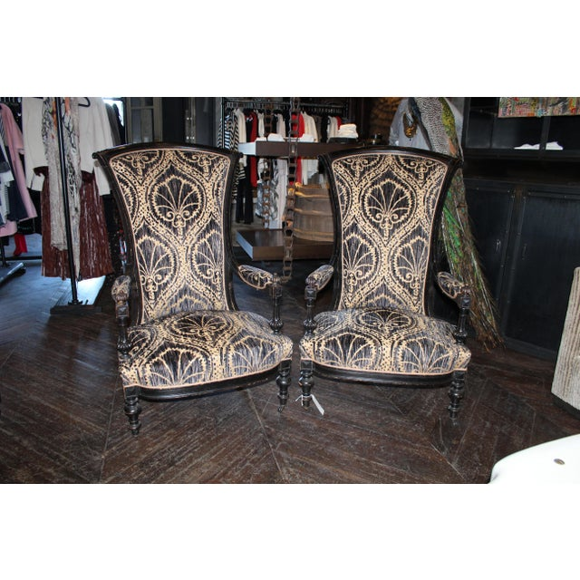 Pair of Victorian French Slipper Chairs For Sale - Image 9 of 9