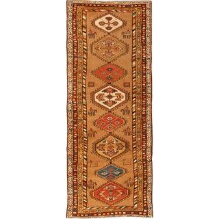 Antique Persian Bakshaish Runner Rug For Sale