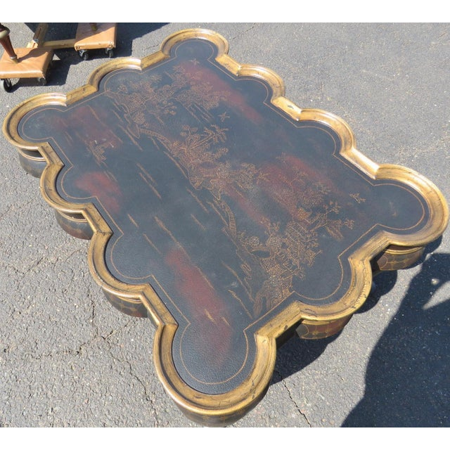 Chinoiserie Ebonized & Gilt Coffee Table - Image 6 of 6