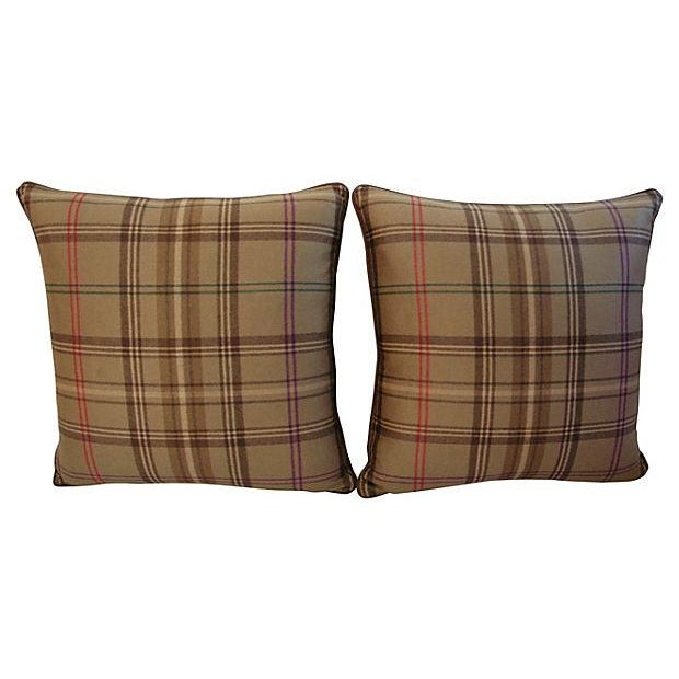 Ralph Lauren Wightwick Plaid Pillows - A Pair - Image 5 of 7