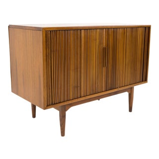 Kipp Stewart for Drexel Declaration Tambour Door Media Cabinet Credenza For Sale