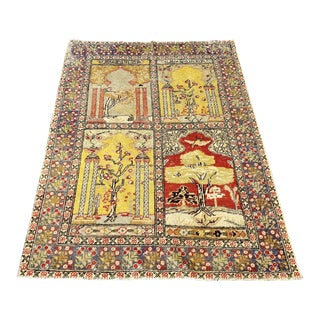 "Bellwether Rugs 1940s Vintage Sivas ""Aleks"" - 4′3″ × 5′5″ For Sale"