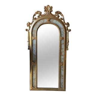 Rococo Scrolling Floor Gilded Mirror** (#0006) For Sale