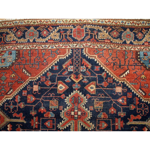 1920s Handmnade Antique Persian Malayer Rug - 4.10' X 7.3' For Sale - Image 4 of 8