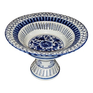 Seymour Mann Blue China Porcelain Centerpiece For Sale