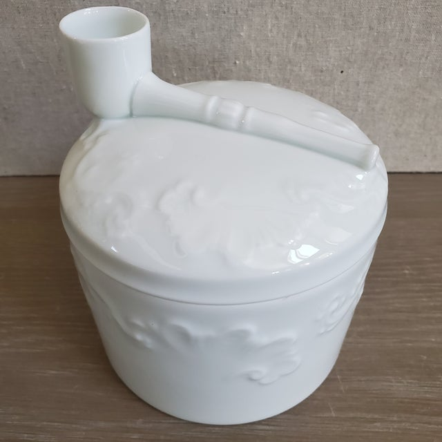French Limoges French Porcelain Tobacco Jar For Sale - Image 3 of 11