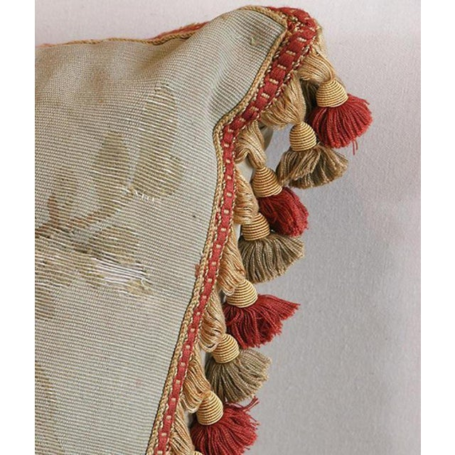 Mid 18th Century Antique Aubusson Pillow For Sale - Image 5 of 6