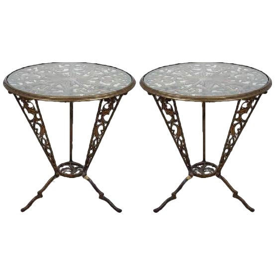 BEAUTIFUL PAIR OF ART DECO RENA ROSENTHAL TABLES BY KARL HAGENAUER For Sale