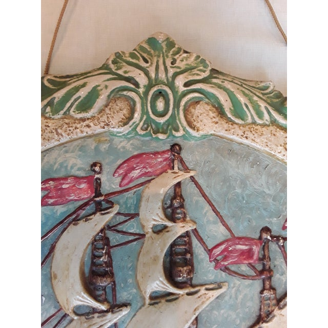 Folk Art Antique Nautical Wall Plaque For Sale - Image 3 of 8