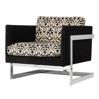 Milo Baughman for Thayer Coggin Floating Cube Lounge Chair For Sale
