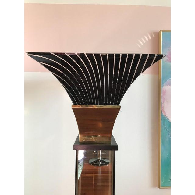 Vintage Art Deco Hollywood Regency Torchiere Floor Lamp For Sale - Image 4 of 7