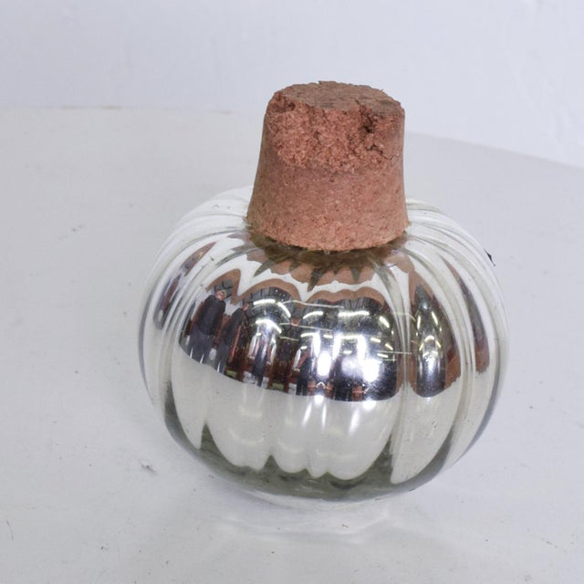 Boho Chic Vintage Mexican Modern Mercury Glass Stopper For Sale - Image 3 of 8