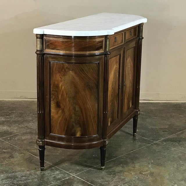 19th Century French Louis XVI ~ Directoire Style Marble Top Buffet For Sale - Image 4 of 11