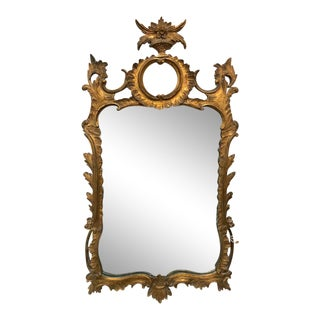 Italian Gold French Rococo Palladio Mirror For Sale