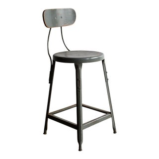 1940's Industrial Workbench Stool/Chair For Sale