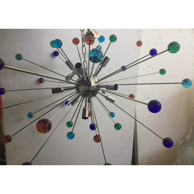 Murano Murano Glass Triedo Sputnik Chandelier For Sale - Image 4 of 7