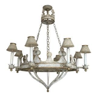 Niermann Weeks Gothic Tole Chandelier For Sale