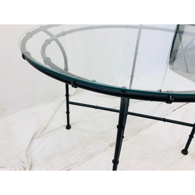 Metal Vintage Faux Bamboo Style Table For Sale - Image 7 of 13