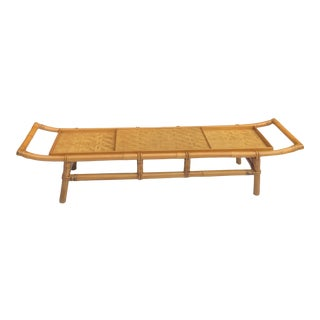 1960s Ficks Reed Rattan Coffee Table For Sale