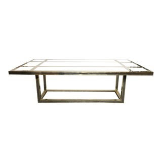 Romeo Rega Large Mixed Metal Dining Table, Signed For Sale
