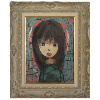 1960s Oil on Canvas Young Girl For Sale