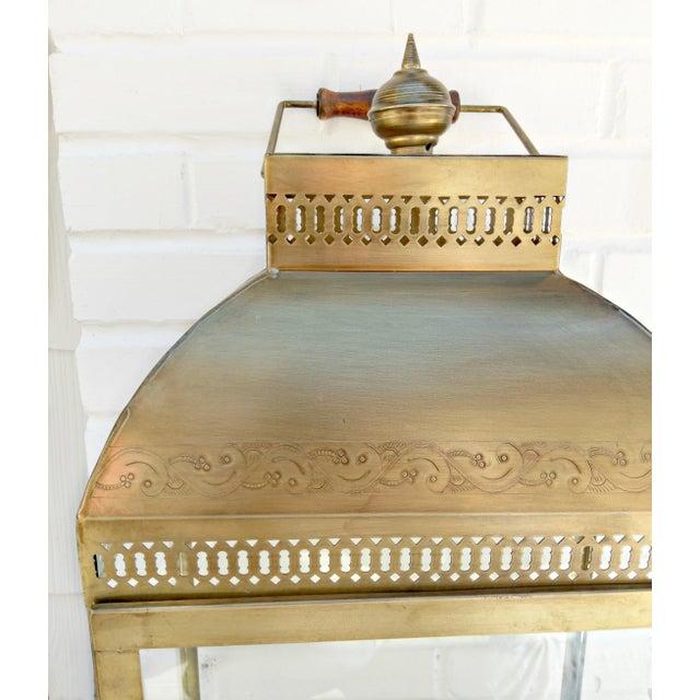 Large Brass Lantern - Image 2 of 4