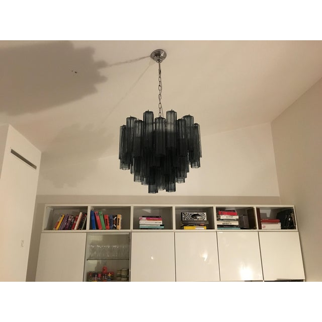 "Contemporary Murano Glass ""Tronchi"" Chandelier For Sale - Image 6 of 9"