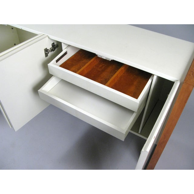Wood Vintage Milo Baughman for Thayer Coggin Walnut & Lacquered Cabinet For Sale - Image 7 of 10