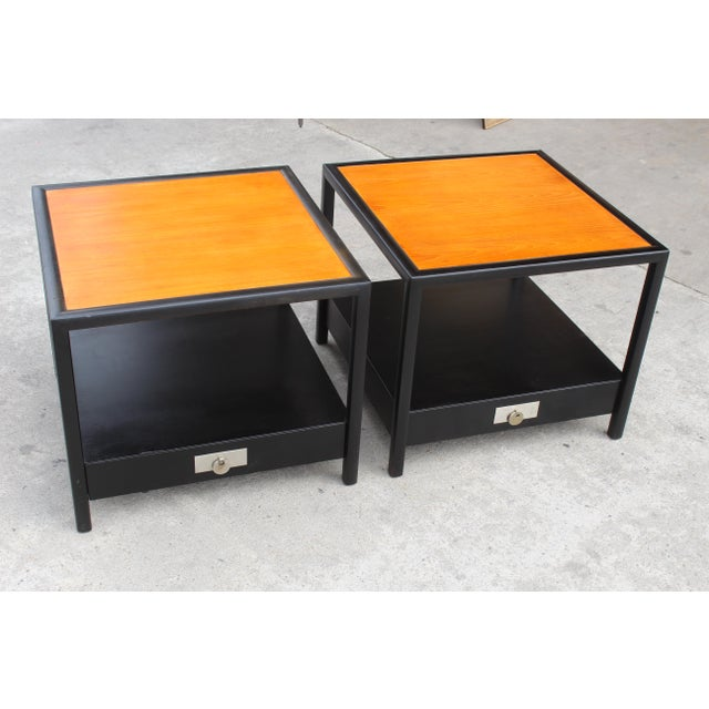 Mid-Century Baker Walnut End Tables - a Pair For Sale In San Diego - Image 6 of 13