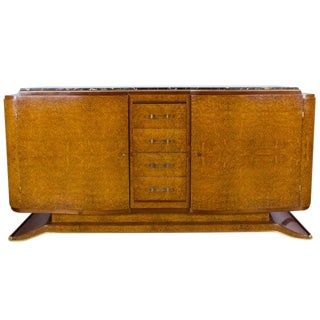 Mid 20th Century French Art Deco Elm Burl Sideboard For Sale