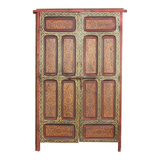 20th Century Moroccan Painted Door For Sale