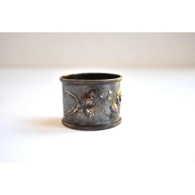 19th Century 19th Century Antique Victorian Repoussé Napkin Ring Holder For Sale - Image 5 of 8